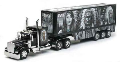 Kenworth W900 with Native Indians Graphics