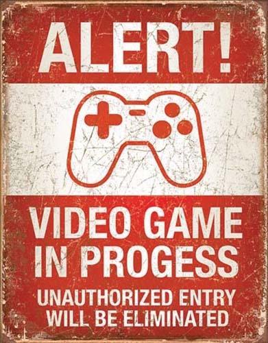 VIDEO GAME IN PROGRESS