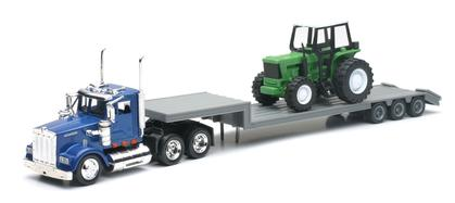 Kenworth W900 with Flat bed Trainler and Tractor