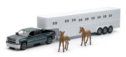 Chevrolet Silverado 1500 Crew Cab with Horses Trailer