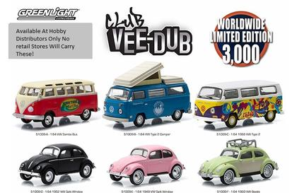 Set of 6 Vehicules Volkswagen Club Vee-Dub