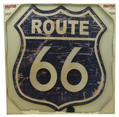 Route 66, wooden plaque