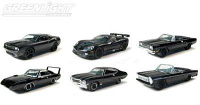 Set of 6 cars Black Bandit Collection Serie 4