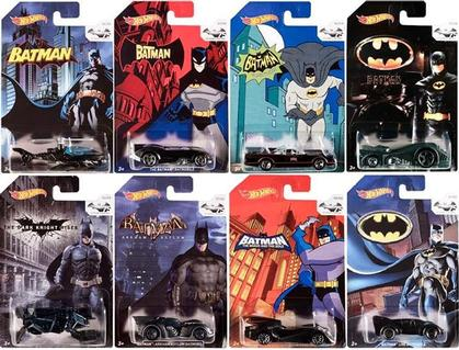 Set of 8 Batman Cars 75th Anniversary