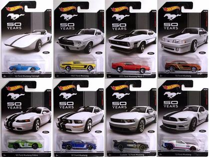 Set of 8 Cars Ford Mustang 50th Anniversary