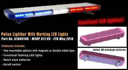 Police Lightbar with working LED lights