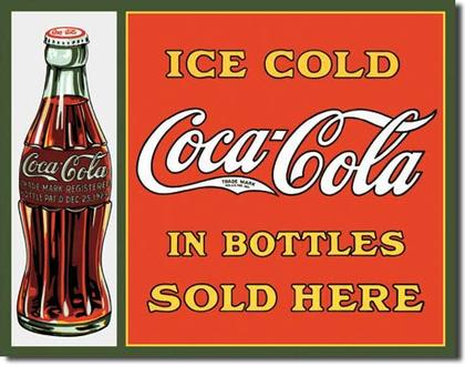 Ice Cold Coca-Cola in Bottles Sold Here