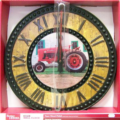 Faux Wood Finish Farmall tractor clock