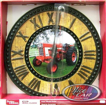 Faux Wood Finish International tractor clock