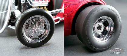 Set of 4 Drag Style Wheels/Tires
