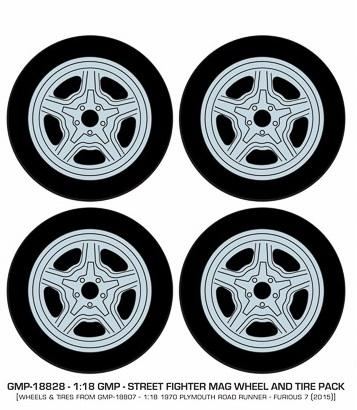 Street Fighter Mag Wheel and Tire Pack Set