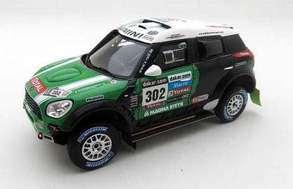MINI Countryman WRC 1st Dakar 2013 #302 with decal 1/43