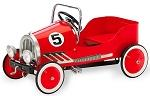 RETRO STYLE PEDAL CAR PEDAL AUTO A Red # 5