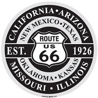 Route US 66 Aluminium Disc