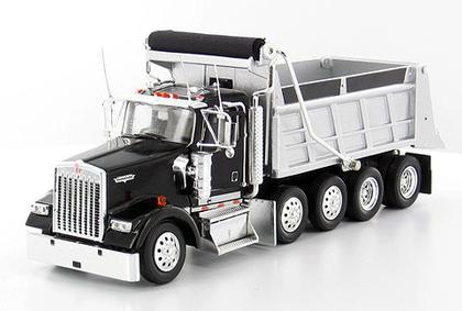 Kenworth W900 Dump Truck in Black with trailer hitch