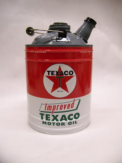Vintage Texaco Can Oil Old Style