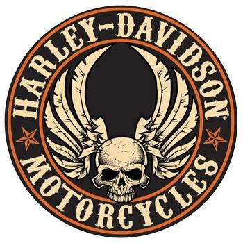 H-D® Flying Skull Button Sign (NEW) 14