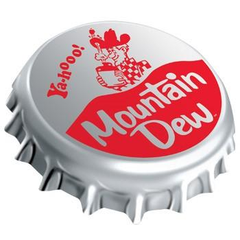 Mountain Dew Bottle Cap Sign