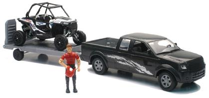 TRUCK AND POLARIS RZR WITH FIGURE SET Xtreme Adventure