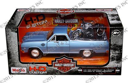HARLEY-DAVIDSON CUSTOM - 1965 CHEVROLET EL CAMINO & 2007 XL 1200N NIGHTSTER