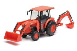 Kubota L6060 Tractor with Backhoe & Loader (with lights and sounds)