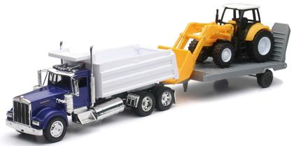 Kenworth Single Dump Truck W/ Construction Tractor