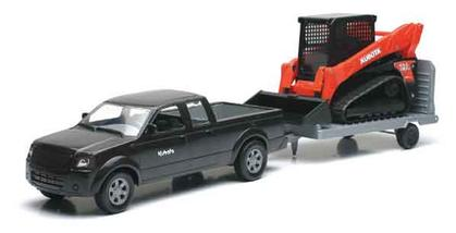 Ford Pickup truck with trailer and kubota SVL Loader