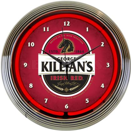 KILLIAN'S IRISH RED BEER NEON CLOCK