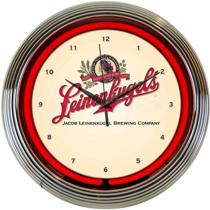 LEINENKUGEL'S BEER NEON CLOCK