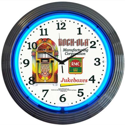 Rockola Jukebox Neon Clock