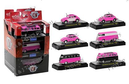 M2 MACHINES 1:64 AUTO-THENTICS VOLKSWAGEN PINK ASSORTMENT