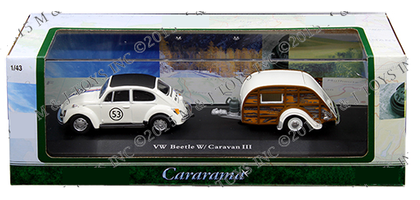 VOLKSWAGEN BEETLE #53 RACING WITH CARAVAN III W/ ACRYLIC CASE