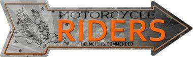 MOTORCYCLE RIDERS  - 17'