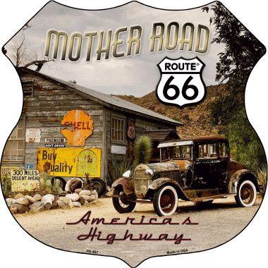 ROUTE 66 MOTHER ROAD HIGHWAY SHIELD