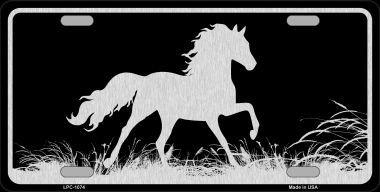 HORSE BLACK BRUSHED CHROME