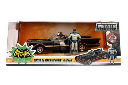 Batman Batmobile 1966 With Batman & Robin Figures