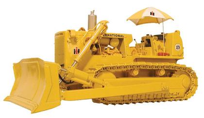 International TD-25 Crawler with Hitch, Blade & Umbrella