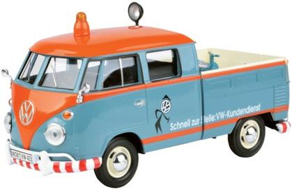 VOLKSWAGEN T1b DoKa with Roof Rack Service, blue/orange