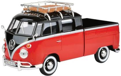 VOLKSWAGEN T1b DoKa with Roof Rack, red/black