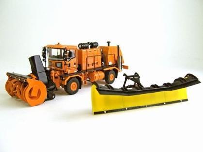 Oshkosh Truck w/ Snow Blower & Snow Plow