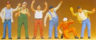 6-Figurines Routiers,Truckers échelle 1.50