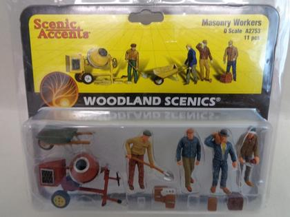 4-Figures Masonry Workers and accessoire 11 pièces