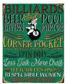 BILLARD BEER POOL TAVERN PARLOR