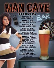 MAN CAVE RULES  BAR