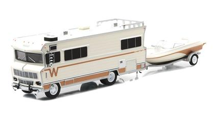 1973 Winnebago Chieftain RV with Boat and Trailer