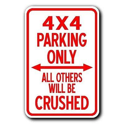 4X4 PARKING ONLY