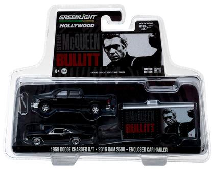 Steve McQueen Bullitt 2016 Ram 2500 with 1968 Dodge Charger R/T and Enclosed Car Hauler