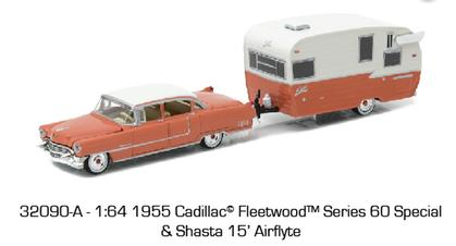 1955 Cadillac Fleetwood Series 60 Special and Shasta 15' Airflyte Travel Trailer