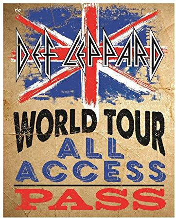 DEF LEPPARD WORLD TOUR ALL ACCES PASS