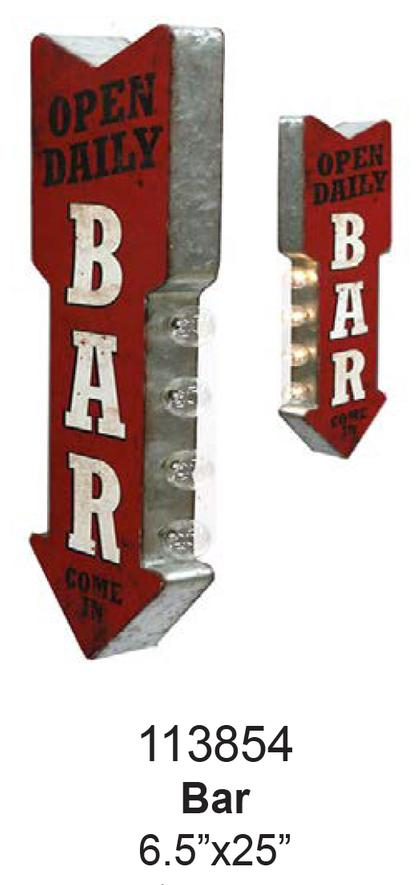 OPEN DAILY BAR OFF THE WALL LED SIGN